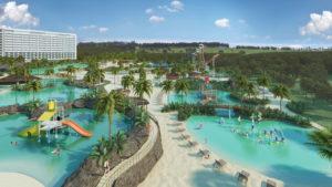 Blue Park - parque aquático em construção da Rede Mabu, unidade Foz de Igraçu/PR.