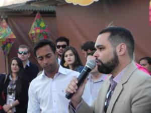 André Ladeira discursa aos presentes